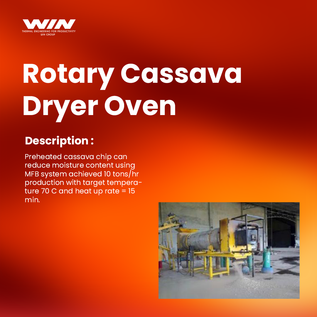Rotary Cassave Dryer Oven