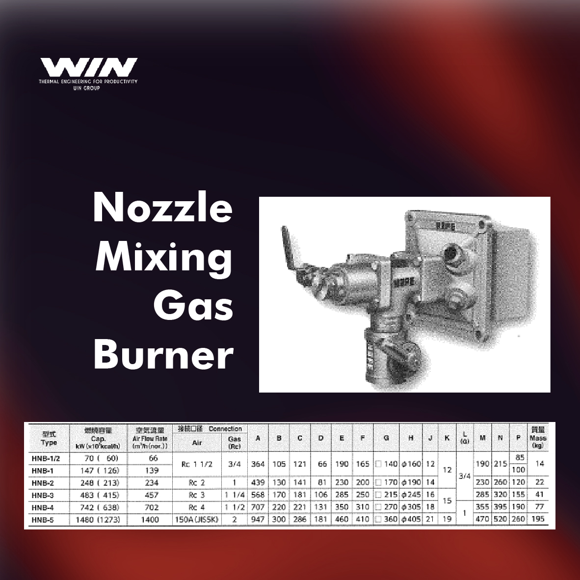 BURNER - WIN-20