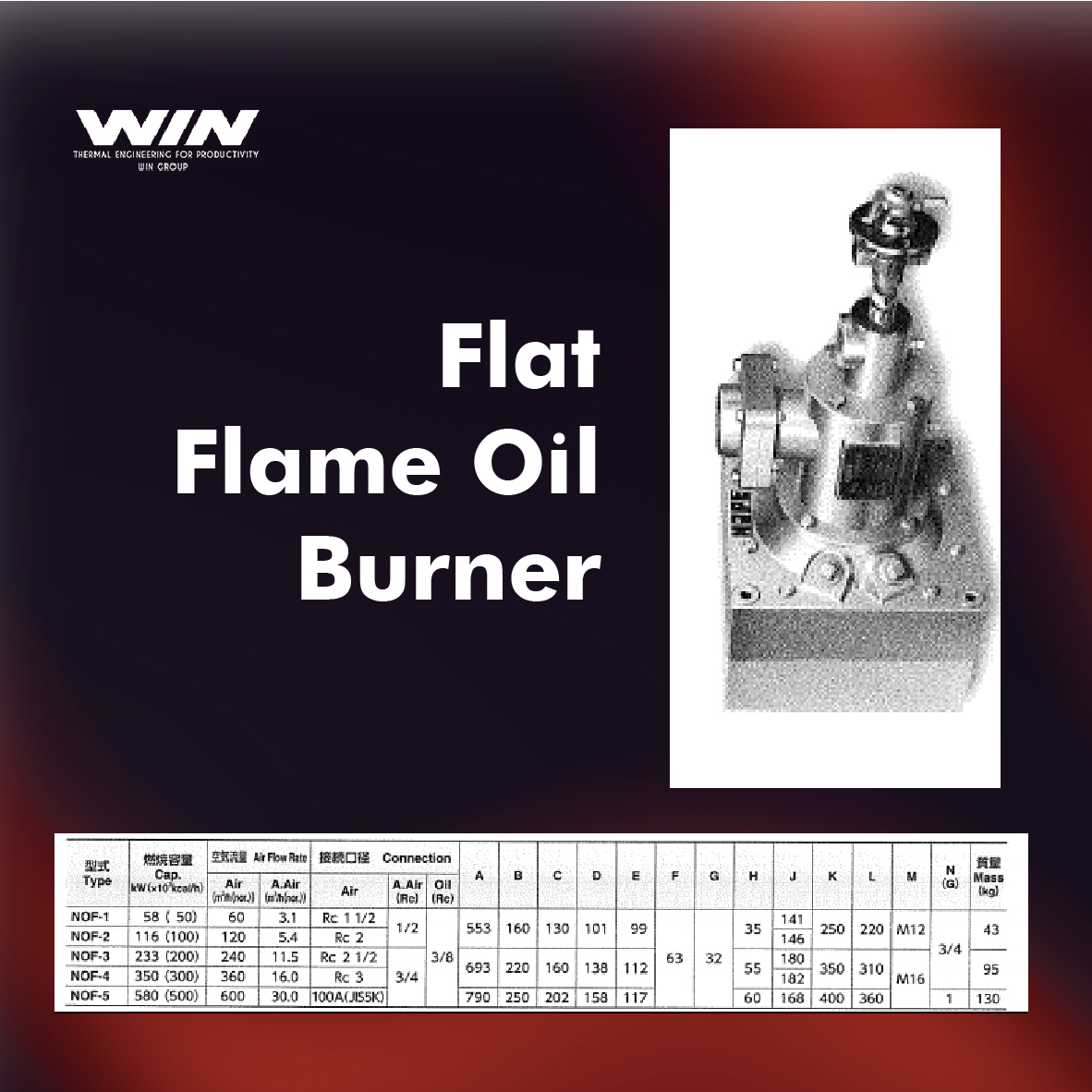 BURNER - WIN-62