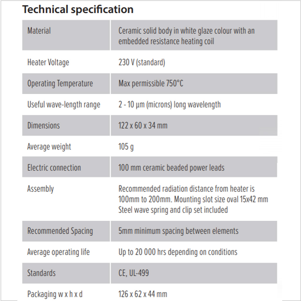 Half Trough Technical Specifications